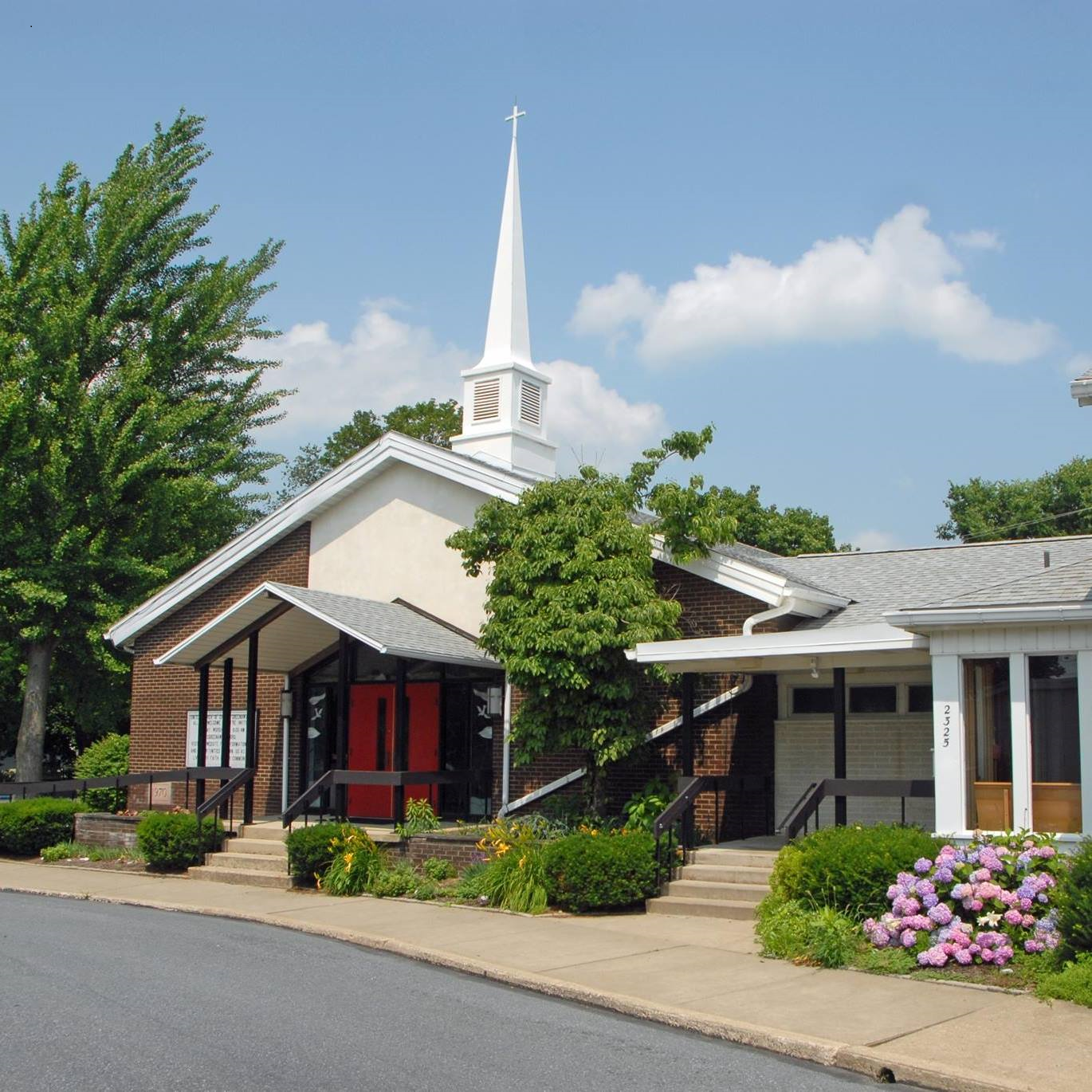 The United Church of Christ Greenawalds is located at the corner of Albright and Orchard Avenues in South Whitehall Township, a suburb of Allentown, Pennsylvania.
